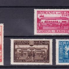 ROMANIA 1944  LP 163  CAMINUL CULTURAL  RADASENI  SERIE MNH