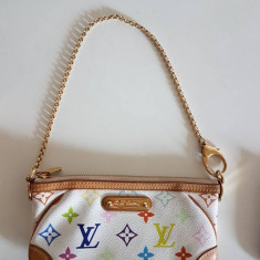 Louis Vuitton mini pochette multicolor - Geanta Dama Louis Vuitton, Culoare: Din imagine, Marime: Mica