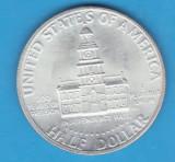 (1) MONEDA DIN ARGINT SUA - HALF DOLLAR 1976, LIT. S, 200 ANI DE INDEPENDENTA, America de Nord