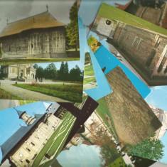 (A1)Lot- 35 carti postale -Biserici si Manastiri din Romania - Carte postala tematica, Circulata, Printata