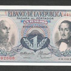 COLUMBIA 1 PESO ORO 20.07.1972, UNC [1] P-404e.4, necirculata - bancnota america