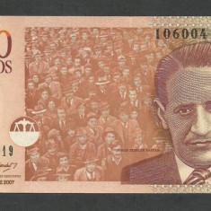 COLUMBIA 1000 1.000 PESOS 13.08. 2007, UNC [1] P-456g, necirculata - bancnota america