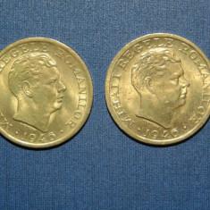 LOT 2 MONEDE 2000 LEI 1946 AUNC - Moneda Romania