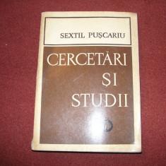 CERCETARI SI STUDII ~ SEXTIL PUSCARIU - Studiu literar