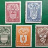 Belgia 1947 30 Euro blazoane - serie nestampilata MH
