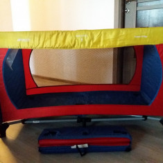 Patut pliabil + CADOU Carusel muzical - Patut pliant bebelusi Hauck, 120x60cm, Multicolor