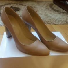 Pantofi Bata | nude | masura 38 - Pantof dama Bata, Cu toc