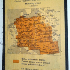 Harta rutiera germana veche, No.56, Romania, Lugoj, Turnu Severin - Harta Romaniei