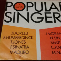 DISC VINIL POPULAR SINGERS - Muzica Jazz