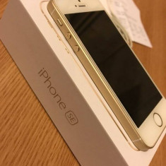 Iphone SE Gold 16Gb, full box, neverlocked, ca nou, cu garantie si factura - Telefon iPhone Apple, Auriu