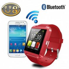 Ceas U8 SmartWatch cu Bluetooth pentru iPhone si Android, Alte materiale, Tizen Wear, Apple Watch