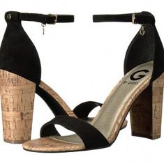 Sandale G by Guess - Shantal - Sandale dama Guess, Culoare: Negru, Marime: 37 2/3, 38, Piele intoarsa