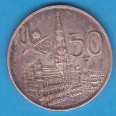 (3) MONEDA DIN ARGINT BELGIA - 50 FRANCS 1958, Europa