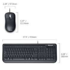 Kit tastatura + mouse Microsoft Wired Desktop 400 for Business, Cu fir, USB