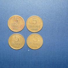 LOT 5 BANI 1952, 53, 54, 56 - Moneda Romania