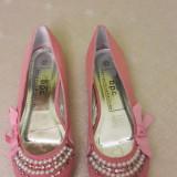 Pantofi dama - Balerini dama, Culoare: Roz, Marime: 36.5