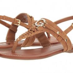 Sandale G by Guess - Loginn - Sandale dama Guess, Culoare: Coniac, Marime: 37 2/3, 38, Piele intoarsa