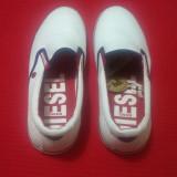 Tenesi barbati Diesel - Sneakers - Tenisi barbati Diesel, Marime: 41, Culoare: Alb