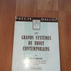 LES GRANDS SYSTEMES DE DROIT CONTEMPORAINS-RENE DAVID