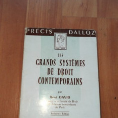 LES GRANDS SYSTEMES DE DROIT CONTEMPORAINS-RENE DAVID - Carte Teoria dreptului