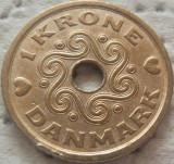 Moneda 1 Coroana - Danemarca 1992 *cod 3691, Europa