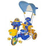 TRICICLETA EUROBABY 2890AC - ALBASTRU - Tricicleta copii