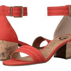 Sandale G by Guess - Eady - Sandale dama Guess, Culoare: Corai, Olive, Marime: 37 2/3, 38, Textil