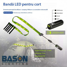 Banda LED, 3 moduri de functionare, pentru exterior cu acumulator