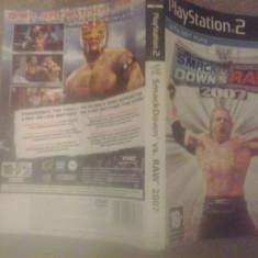 Coperta joc PS2 - WWE Smack Down vs RAW 2007