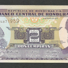HONDURAS 2 LEMPIRAS 2010 UNC [1] P-80 Ah, necirculata - bancnota america