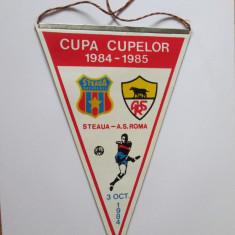 Fanion Steaua-A.S.Roma,3 octombrie 1984 Cupa Cupelor