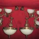 Pereche Plafoniere, Candelabre, Lustre de tavan si 2 perechii aplice