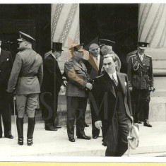FOTOGRAFIE, MIHAI ANTONESCU, OVIDIU AL. VLADESCU, OFICIALITATI, PALATUL PATRIARHIEI, 21 IUNIE 1942