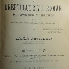 CCMRJ - DIMITRIE ALEXANDRESCO - DREPT CIVIL ROMAN - 1906 - SEMNAT DE AUTOR!!! - Carte Drept civil