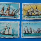 SIERA LEONE-serieta - Vapoare-stamp, Stampilat