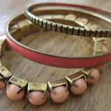 Set de 3 bratari - alama, email si acryl - Set bijuterii handmade si fashion