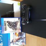 Consola PlayStation 4 Sony Jet Black 500 gb + 2 jocuri