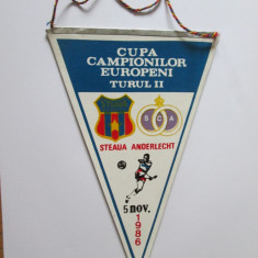 Fanion Steaua-Anderlecht, 5 noiembrie 1986 CCE turul II - Fanion fotbal