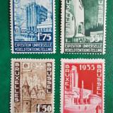 Belgia 1934 60 Euro arhitectura expozitia universala - serie nestampilata MH
