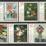 Polonia.1989 Pictura cu flori SP.437 - Timbre straine, Nestampilat