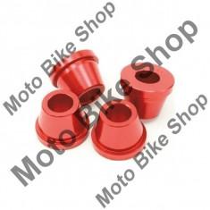 MBS Bucse AL ghidon pentru jug original Honda CR/CRF, rosu, SET=4, Cod Produs: DF370311AU - Adaptor pipa ghidon