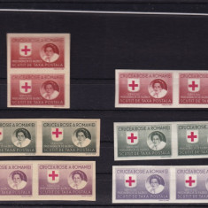 ROMANIA1946 CRUCEA ROSIE SERVICIUL PRIZONIERI DE RAZBOI H.ALBA+H.GRI 2 SERII MNH - Timbre Romania, Nestampilat