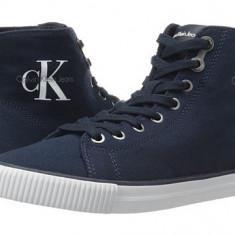 Pantofi sport Calvin Klein Jeans - Dolores - Adidasi dama Calvin Klein, Culoare: Bleumarin, Negru, Marime: 38, 38.5, 39, Textil