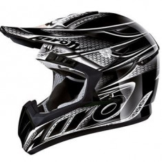 MXE Casca motocross Airoh CR901 culoare negru Cod Produs: CR1LI17 - Pistoane - segmenti Moto