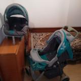 Carucior si scaun auto pentru copii Lorelli 2 in 1 - Carucior copii 2 in 1 Lorelli, Gri