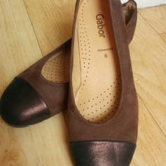 Pantofi din piele firma Gabor marimea 39, sunt noi! - Pantof dama Gabor, Culoare: Maro, Piele naturala, Cu toc