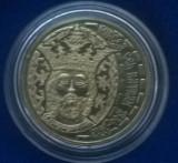 Moneda de 50 bani in capsula / Mircea cel Batran / F714, Alama