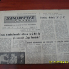 Ziar     Sportul  Popular        3  07   1967