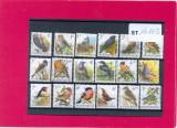 ST-182=BELGIA-Pasari-Lot de 18 timbre nestampilate,MNH, Nestampilat