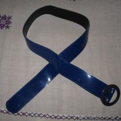 Curea piele eco albastru regal (lg 94) - Curea Dama, Marime: 95cm, Asemanator piele